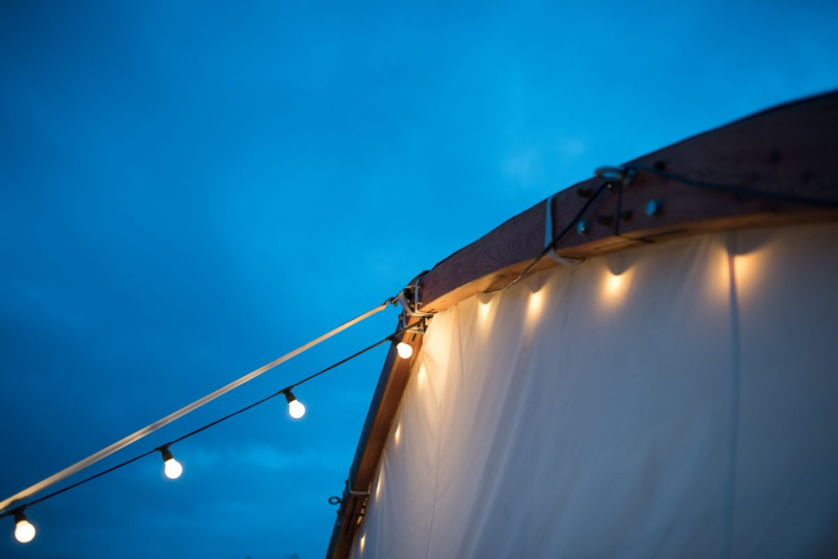Timber arch detail Arched Wedding tent
