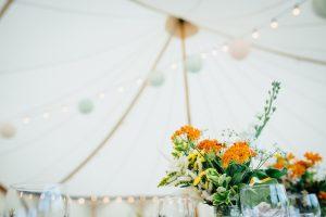 Wedding reception in Arched Wedding Tent