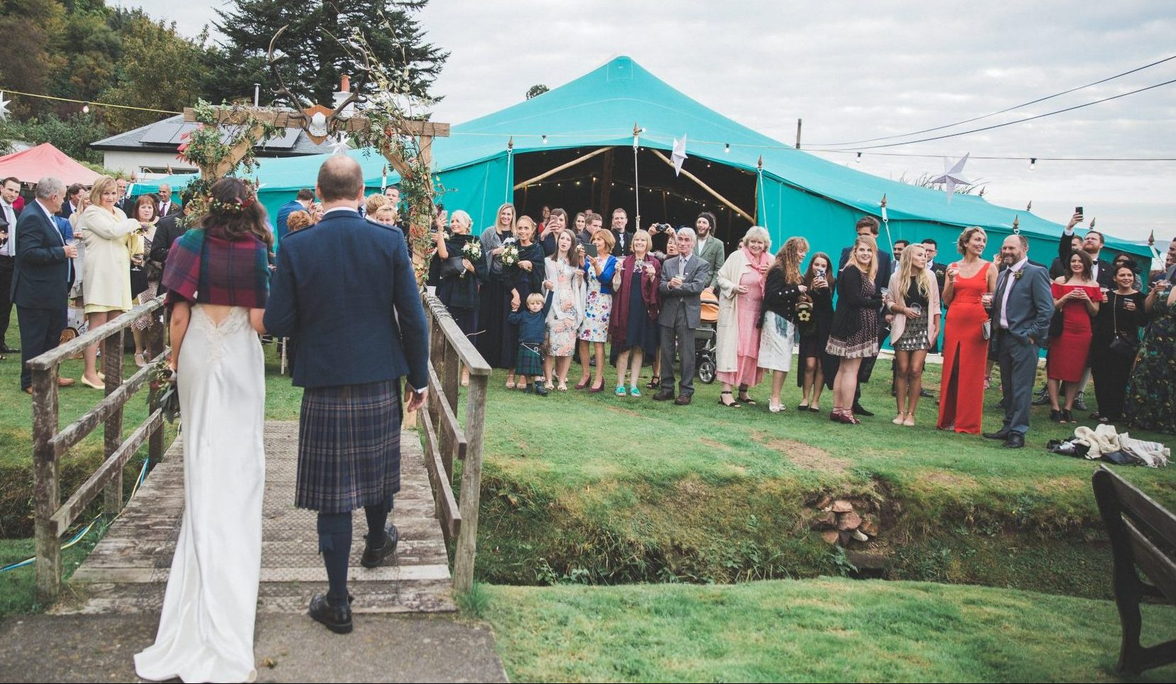 Green Wedding Tent Scotland