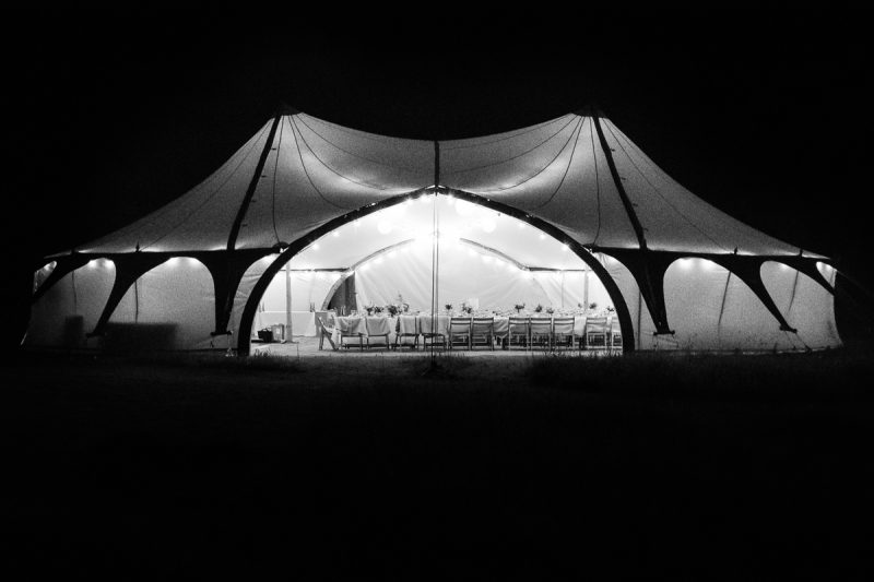 Wedding Tent light up at night