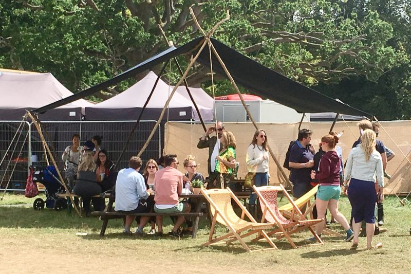 Woodsman's Awning at Wilderness Festival