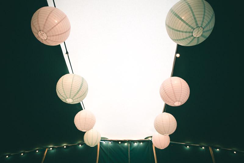 Festoon lighting hire Berber Tent