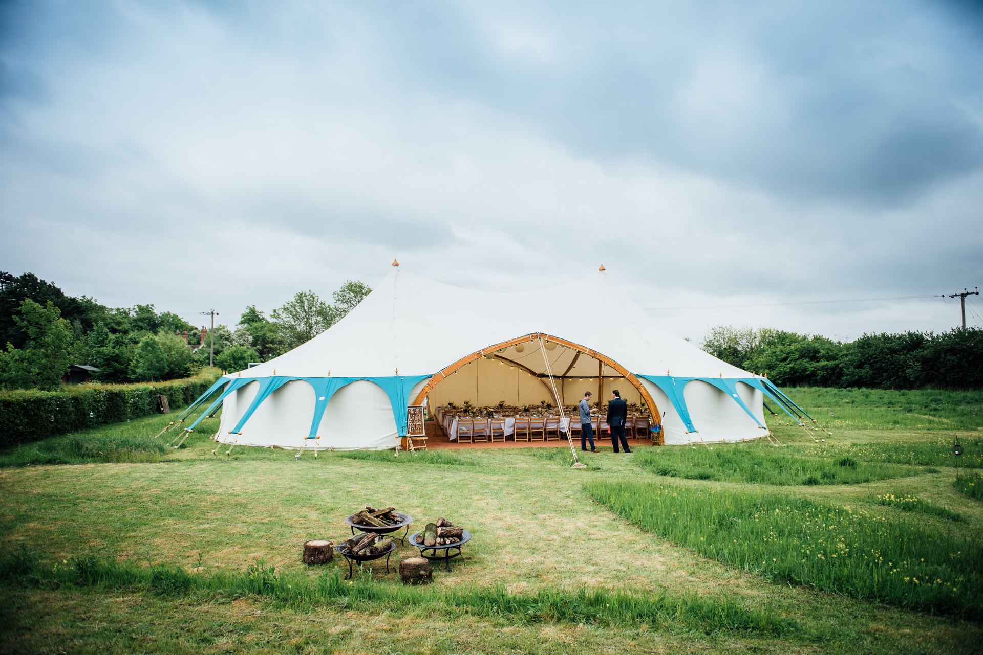 Far view of the Arched Wedding Tent