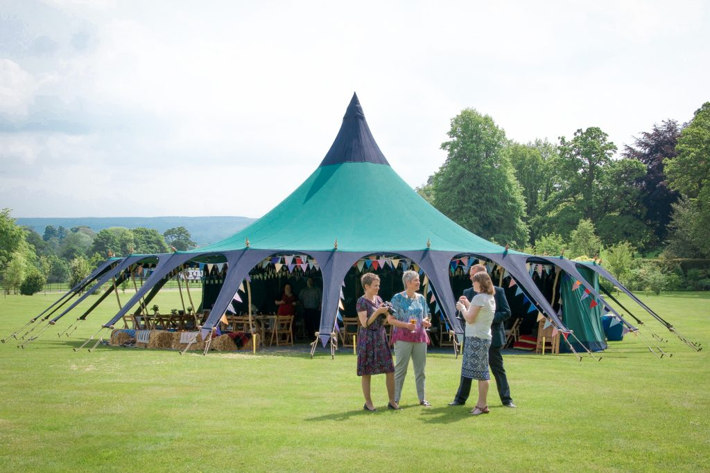 canvas party tent, North East England