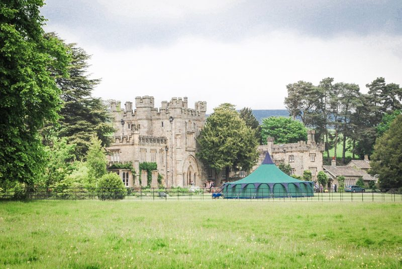 Giant Bell Tent wedding Chillingham Castle South Lawn