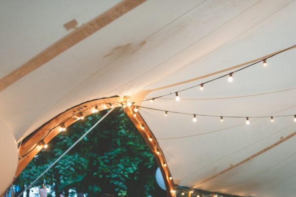 Arched Wedding Tent with Festoon lighting