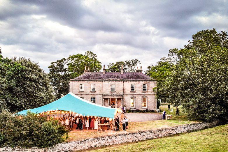 Northumberland wedding marquee tent
