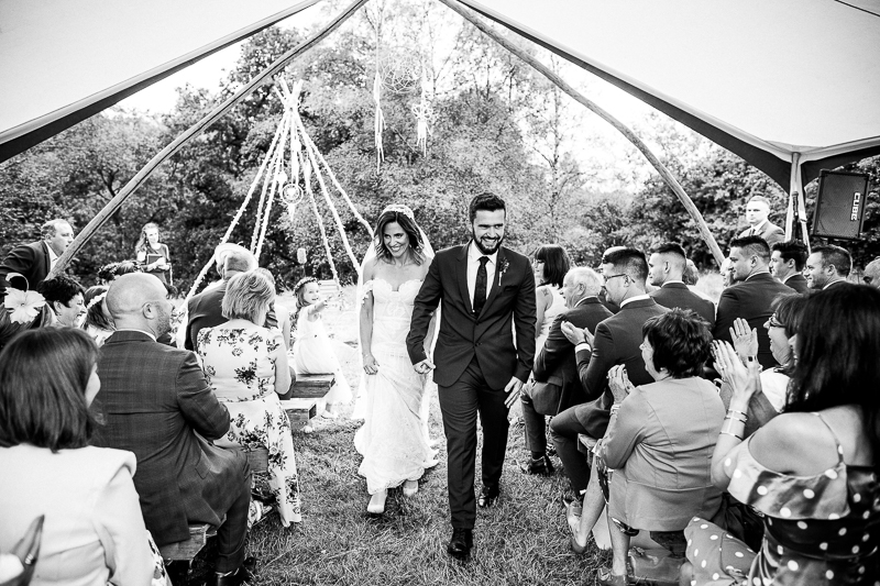 Wedding Awning bride and groom North East England