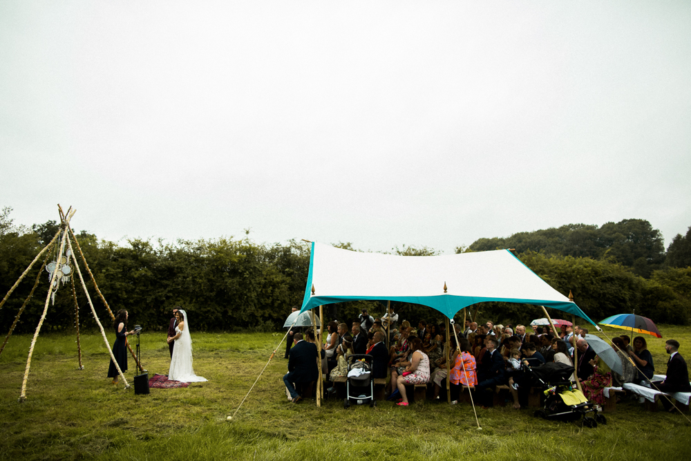 Carlisle outdoor wedding ceremony