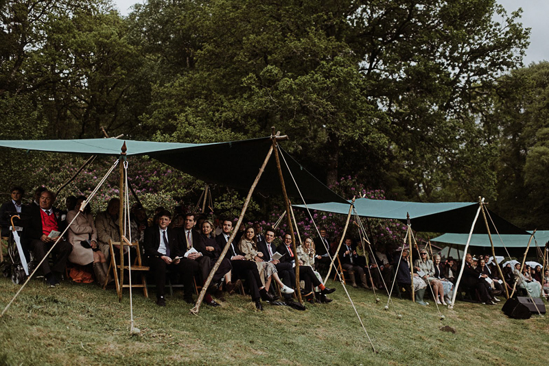 Woodsman's Awnings wedding guests