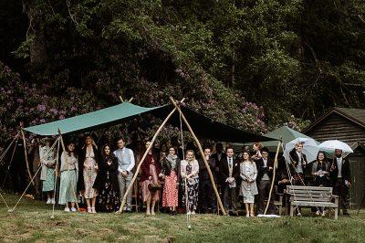Outdoor wedding ceremony, Scotland