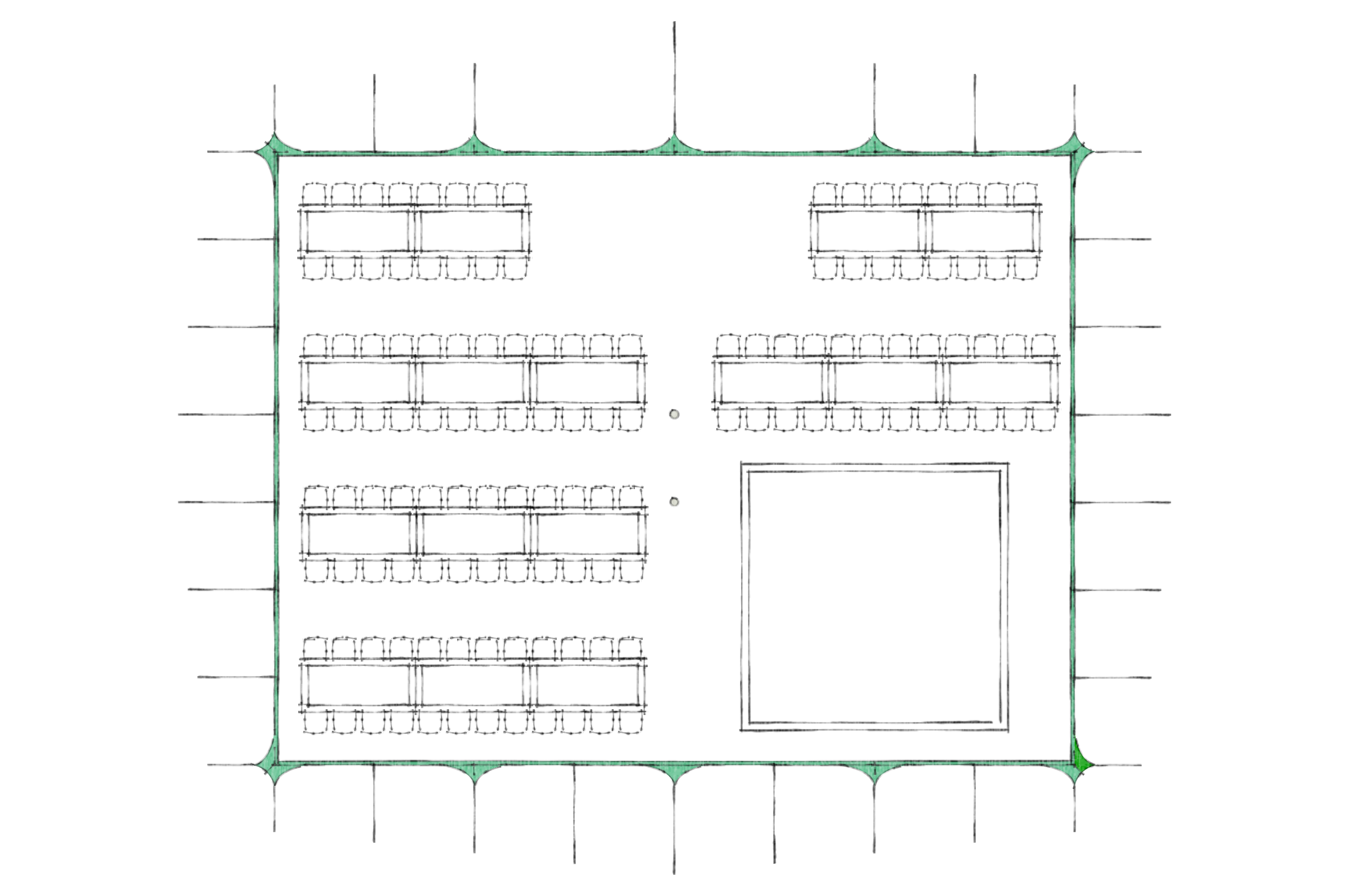 wedding marquee layout 130 guests