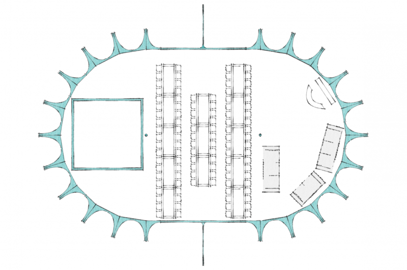Hexham marquee layout plan 80 guests