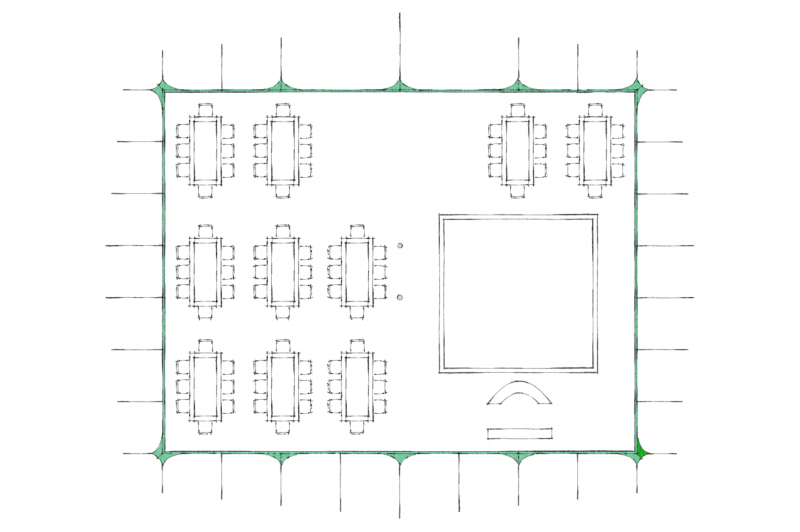 Berber Tent layout 80 guests