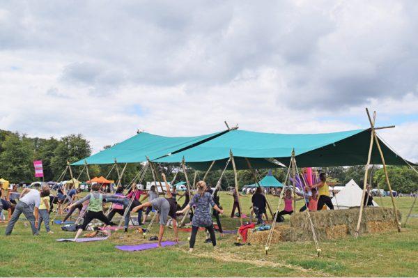 yoga awning